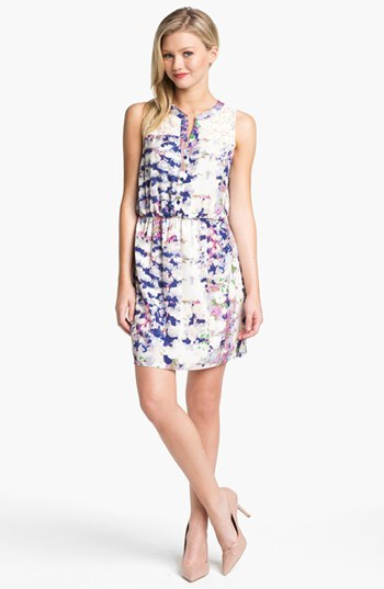 Collective Concepts Print Lace Detail Shirtdress