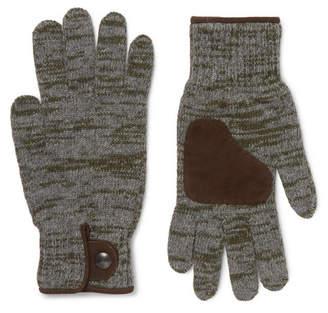 Oliver Spencer Suede-Trimmed Mélange Wool-Blend Gloves