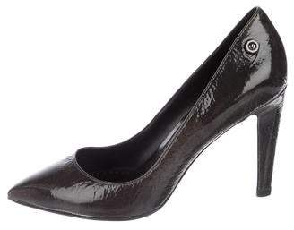 Diesel Leather Pointed-Toe Pumps