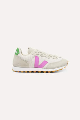 Veja + Net Sustain Rio Branco Rubber-trimmed Mesh And Suede Sneakers - Off-white