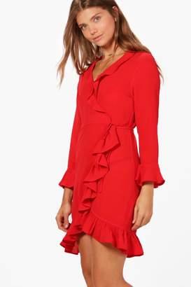 boohoo Tall Frill Tea Dress