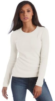 Lord & Taylor Fall Neutrals Collection Cashmere Crewneck Pullover Sweater