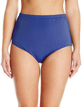 Maxine Of Hollywood Women's Plus Size High Waist Hipster Bikini Swimsuit Bottom