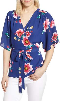 Gibson x International Women's Day Mindy Kimono Sleeve Wrap Blouse