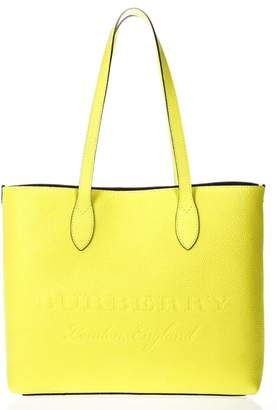 Burberry Yellow Leather Tote Shopper Bag