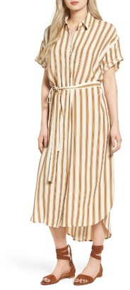 Women's Faithfull The Brand Jena Stripe Maxi Shirtdress $170 thestylecure.com