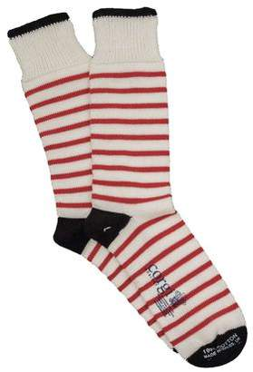 Corgi Breton Stripe Sock in White