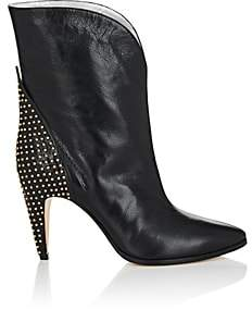 Givenchy Women's Studded-Heel Leather Ankle Boots - Black