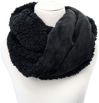 Cuddl Duds Double Plush Velour Faux Sherpa Infinity Scarf