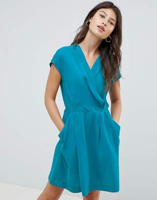 Louche Cross Front Skater Dress