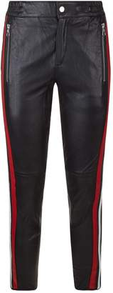 SET Side Stripe Leather Trousers
