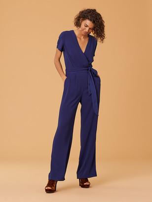 Diane von Furstenberg New Purdy Wrap Jumpsuit