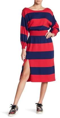Free People Dolman Sleeve Striped Dress