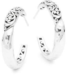 Lois Hill Classic Sterling Silver Hoop Earrings