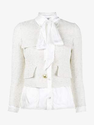 Vetements blouse lined cropped tailored jacket