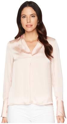 Kenneth Cole New York V-Neck Long Sleeve Blouse Women's Blouse