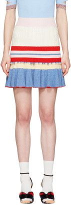 Alexander McQueen Muticolor Knit Ruffled Miniskirt $885 thestylecure.com