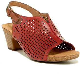 Josef Seibel Ruth Perforated Slingback Heel $140 thestylecure.com