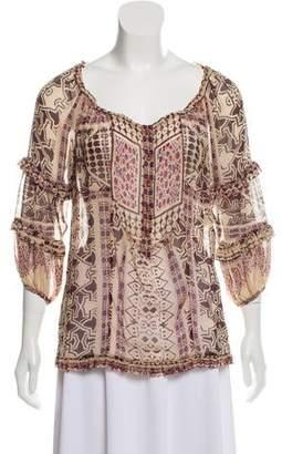 Diane von Furstenberg Silk Long Sleeve Top