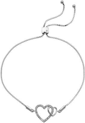 Hot Diamonds Sterling Silver Togetherness Open Heart Toggle Bracelet
