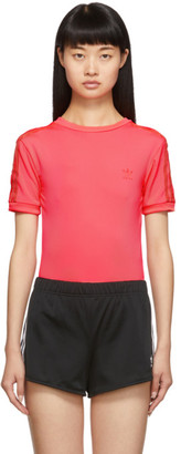 adidas Pink Short Sleeve Bodysuit