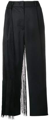 MM6 MAISON MARGIELA fringed cropped trousers
