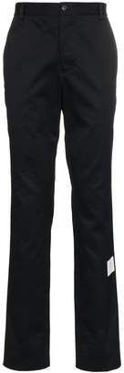 Thom Browne logo patch tailored cotton trousers
