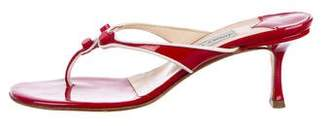 Jimmy Choo Patent Leather Thong Sandals