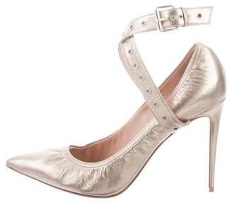 d115f848e8e Valentino Metallic Pointed-Toe Pumps