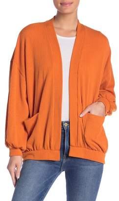 Lush Chunky Ribbed Oversized Cardigan