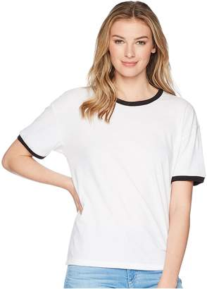 Hurley Staple Ringer Short Sleeve Tee Women's T Shirt