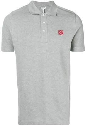 Loewe logo patch polo shirt