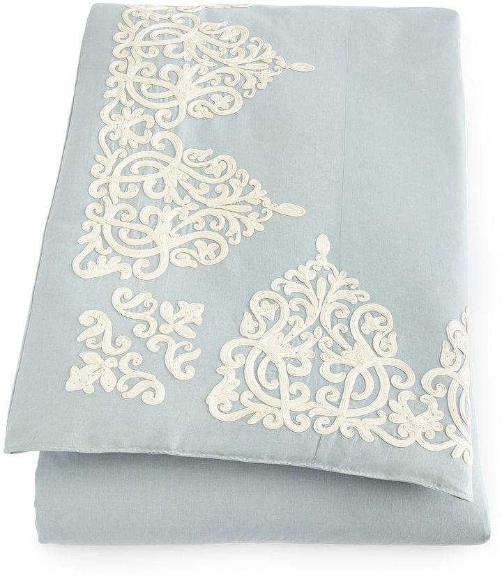Callisto Callisto Home Rienzo Queen Soutache Duvet Cover
