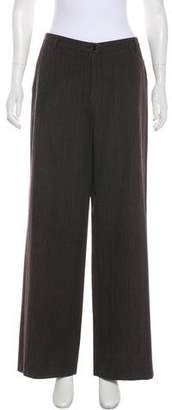 Dries Van Noten Wool-Blend High-Rise Pants