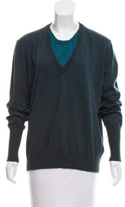 Maison Margiela Layered Wool Sweater