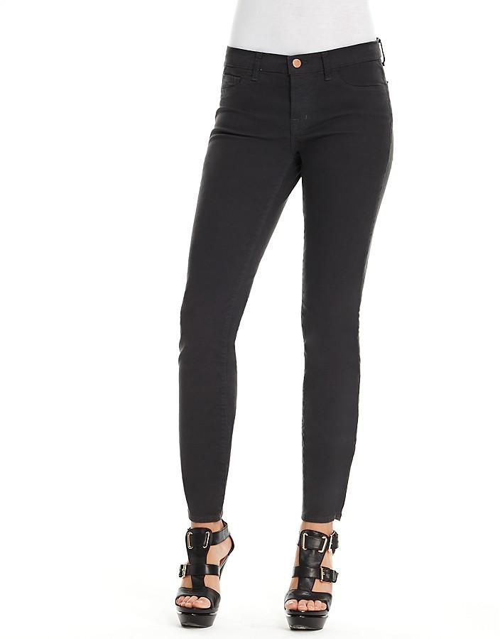 J Brand Twill Mid-Rise Skinny Jeans in Sharkskin Wash