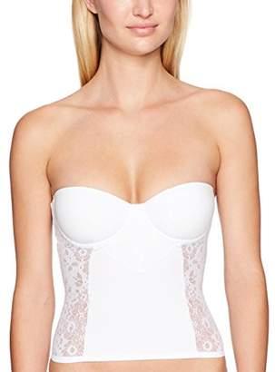 Cosabella Women's Italia Bustier, White, 3