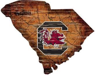 "Kohl's South Carolina Gamecocks Distressed 24"" x 24"" State Wall Art"