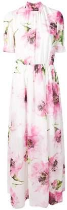 Blugirl floral print turtleneck maxi dress