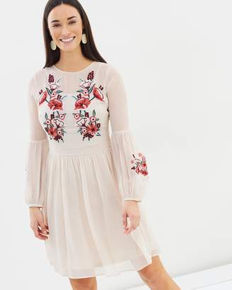 Dorothy Perkins Embroidered Chiffon Dress