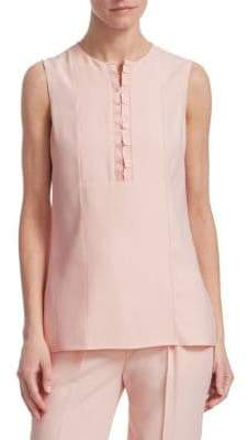 Akris Punto Ruffle-Detail Sleeveless Top