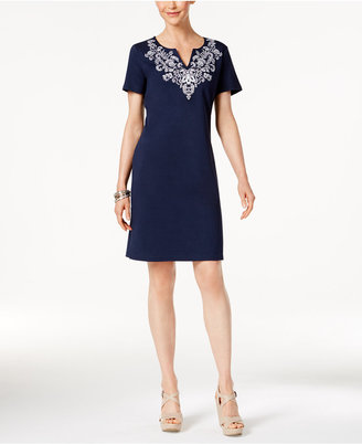 Karen Scott Cotton Printed T-Shirt Dress, Only at Macy's $44.50 thestylecure.com