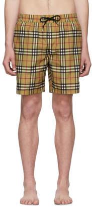 Burberry Multicolor Check Swim Shorts