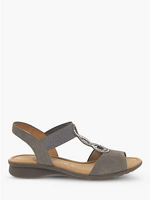 11709ef11ae at John Lewis and Partners · Gabor Merlin Wide Fit T-Bar Sling Back Sandals