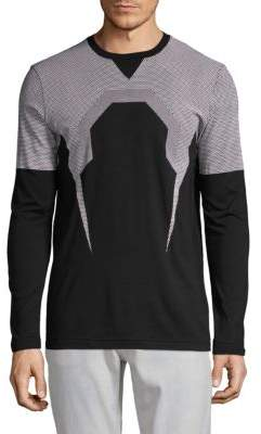 K-Bolt Mesh Print Long-Sleeve Tee