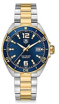 Tag Heuer Formula 1 41mm Stainless Steel & Yellow Goldplated Quartz Bracelet Watch