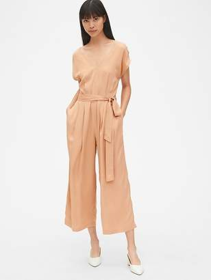 Gap Kimono Sleeve Tie-Belt Wide-Leg Jumpsuit
