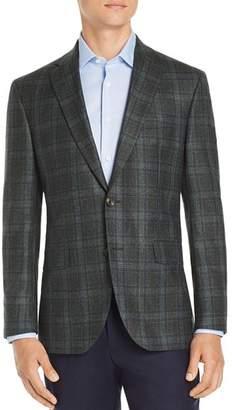 Jack Victor Regular Fit Plaid Wool Sport Coat - 100% Exclusive