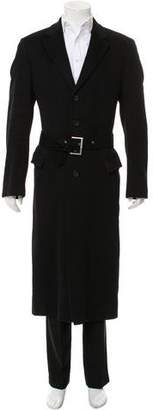 HUGO BOSS Hugo by Long Belted Overcoat
