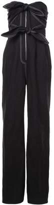 Derek Lam Strapless Jumpsuit With Knot Detail